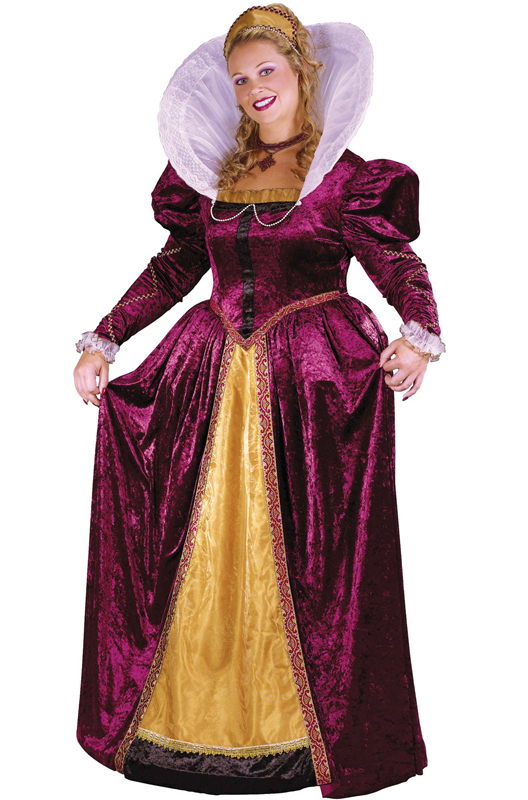 Elizabethan Queen コスチューム クリスマス ハロウィン コスプレ 衣装 仮装 大人用 面白い 大きいサイズ ビッグサイズ キャラクター 学園祭 文化祭 学祭 大学祭 高校 イベント