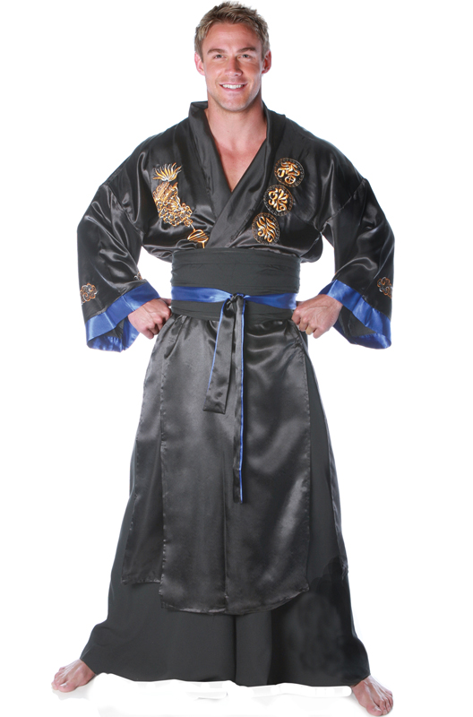 Samurai Warrior Male Costume (Black) コスチューム クリスマス ハロウィン コスプレ 衣装 仮装 大人用 面白い 大きいサイズ ビッグサイズ 2013年 学園祭 文化祭 学祭 大学祭 高校 イベント