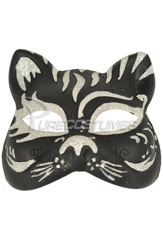 【全品P5倍】Tiger Colombina Mask (Black Silver) コスチューム クリスマス ハロウィン コスプレ 衣装 仮装 大人用 面白い セクシー 猫 キャット 学園祭 文化祭 学祭 大学祭 高校 イベント