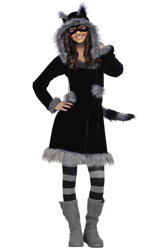 Sweet Raccoon ティーンサイズ コスチューム クリスマス ハロウィン コスプレ 衣装 仮装 大人用 面白い 動物 アニマル 学園祭 文化祭 学祭 大学祭 高校 イベント