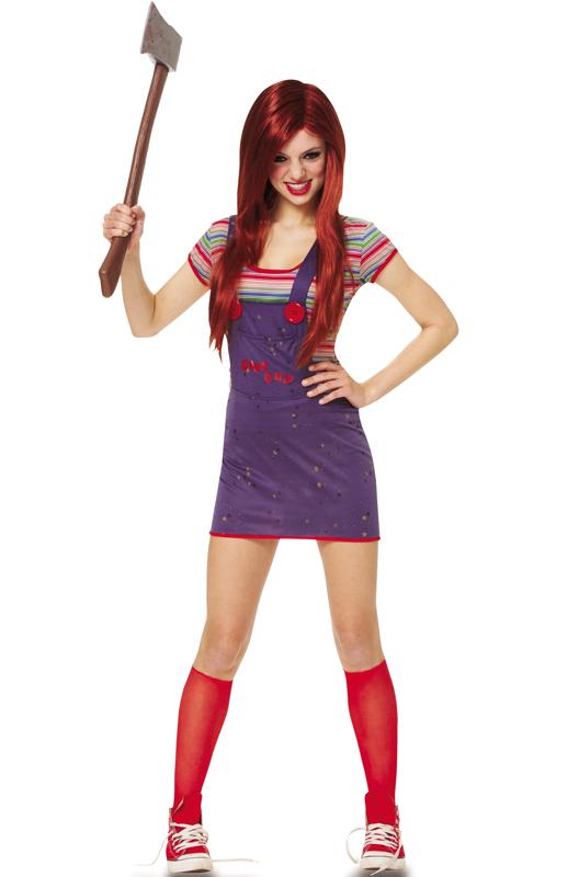 Sassy Chucky ティーンサイズ コスチューム ハロウィン コスプレ 衣装 仮装 大人用 面白い 2013年 学園祭 文化祭 学祭 大学祭 高校 イベント