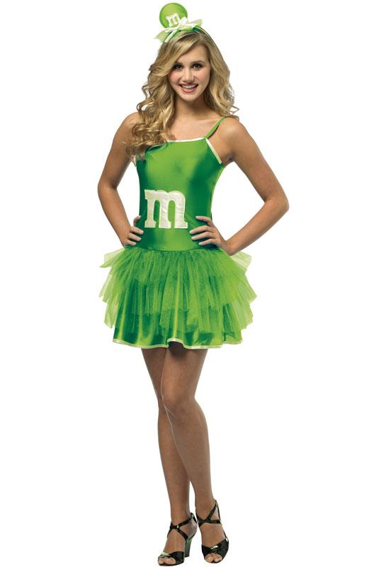 M&M'S Green Party ドレス ティーンサイズ コスチューム クリスマス ハロウィン コスプレ 衣装 仮装 大人用 面白い 2013年 学園祭 文化祭 学祭 大学祭 高校 イベント
