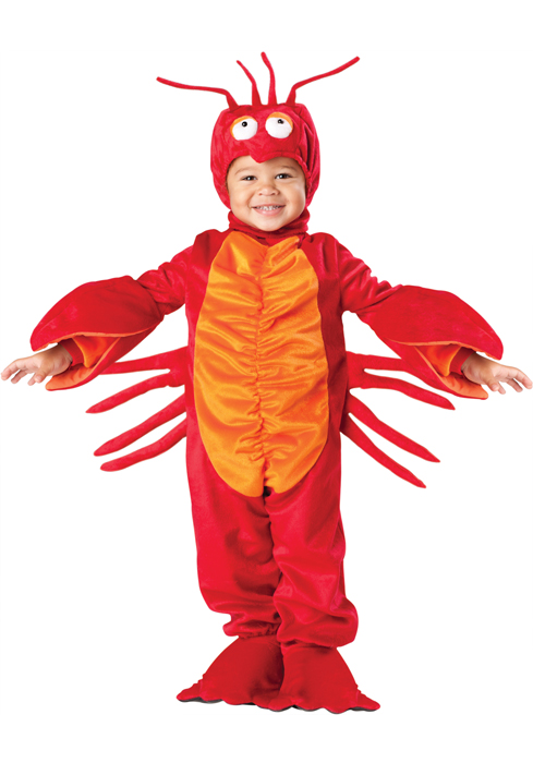 Lil' Lobster 幼児,子供用コスチューム ハロウィン コスプレ 衣装 仮装 幼児 赤ちゃん 子供 0歳 1歳 かわいい 面白い 動物 アニマル 学園祭 文化祭 学祭 大学祭 高校 イベント ベビー服 出産祝い 誕生日 お祝い