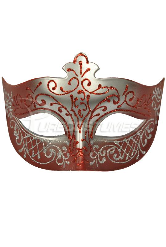 Royal Countess ベネチアンマスク (Red) コスチューム クリスマス ハロウィン コスプレ 衣装 仮装 面白い ウィッグ かつら マスク 仮面 学園祭 文化祭 学祭 大学祭 高校 イベント