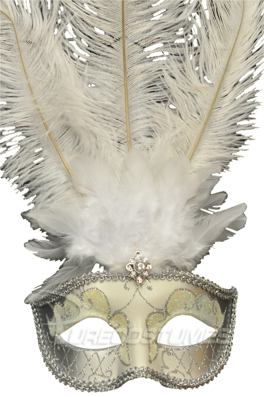 Winter Wonderland ベネチアンマスク (White Silver) コスチューム ハロウィン コスプレ 衣装 仮装 面白い ウィッグ かつら マスク 仮面 学園祭 文化祭 学祭 大学祭 高校 イベント