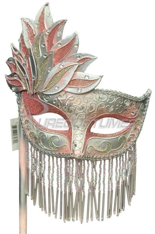 Bellisima Festa Mask (Pink Silver) コスチューム ハロウィン コスプレ 衣装 仮装 面白い ウィッグ かつら マスク 仮面 学園祭 文化祭 学祭 大学祭 高校 イベント
