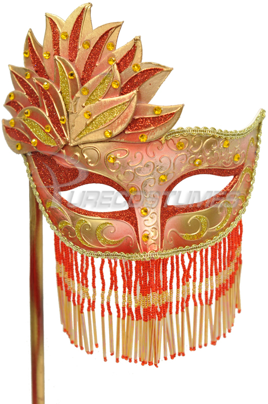 【全品P5倍】Bellisima Festa Mask (Red Gold) コスチューム クリスマス ハロウィン コスプレ 衣装 仮装 面白い ウィッグ かつら マスク 仮面 学園祭 文化祭 学祭 大学祭 高校 イベント