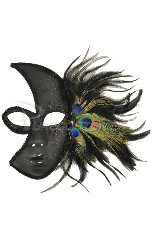【全品P5倍】Glittery Night Peacock Mask (Black) コスチューム クリスマス ハロウィン コスプレ 衣装 仮装 面白い ウィッグ かつら マスク 仮面 学園祭 文化祭 学祭 大学祭 高校 イベント
