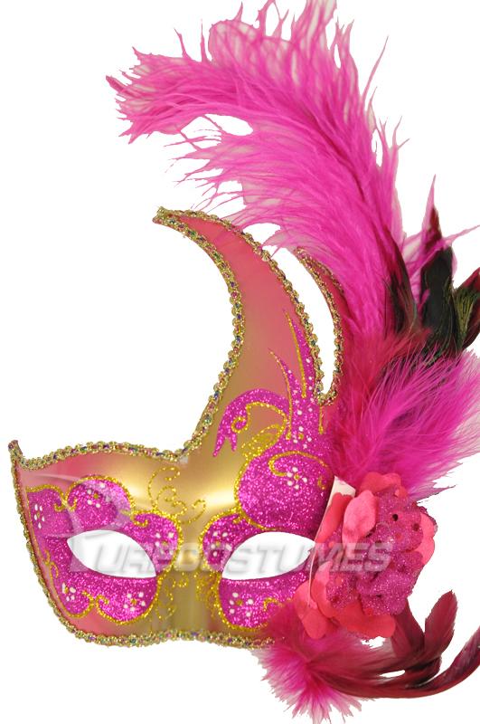 Mardi Gras Swan マスク (Hot Pink Gold) コスチューム クリスマス ハロウィン コスプレ 衣装 仮装 面白い ウィッグ かつら マスク 仮面 学園祭 文化祭 学祭 大学祭 高校 イベント