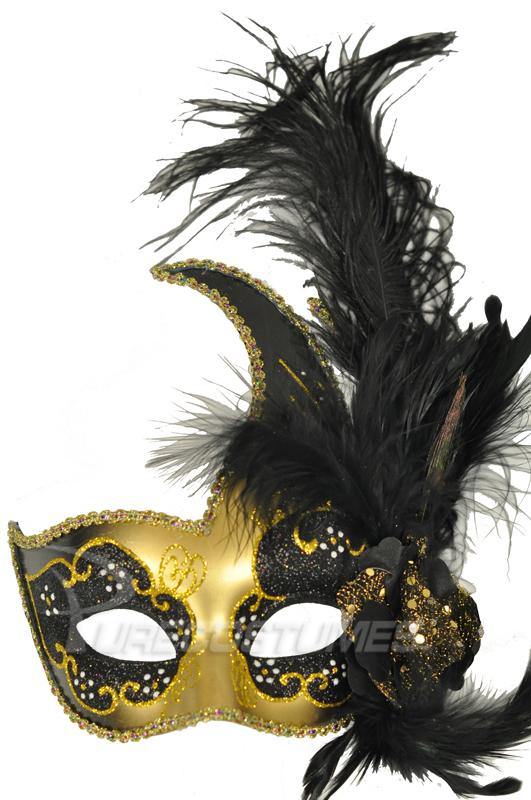Black Swan Crescent Mask (Black Gold) コスチューム ハロウィン コスプレ 衣装 仮装 面白い ウィッグ かつら マスク 仮面 学園祭 文化祭 学祭 大学祭 高校 イベント
