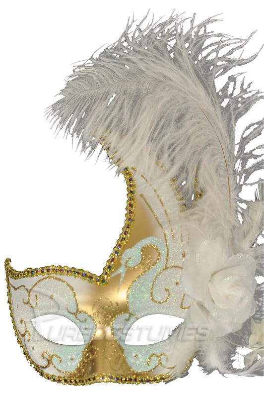 【ポイント最大29倍●お買い物マラソン限定!エントリー】White Swan Crescent Mask (White Gold) コスチューム ハロウィン コスプレ 衣装 仮装 面白い ウィッグ かつら マスク 仮面 学園祭 文化祭 学祭 大学祭 高校 イベント