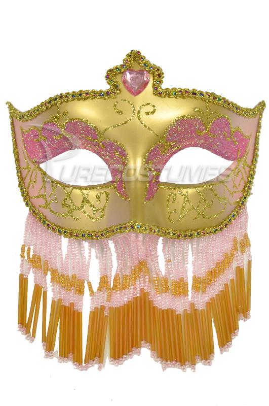 Soiree Spectaculaire マスク (Pink Gold) コスチューム クリスマス ハロウィン コスプレ 衣装 仮装 面白い ウィッグ かつら マスク 仮面 学園祭 文化祭 学祭 大学祭 高校 イベント