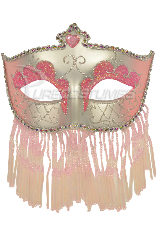 Soiree Spectaculaire マスク (Pink Silver) コスチューム クリスマス ハロウィン コスプレ 衣装 仮装 面白い ウィッグ かつら マスク 仮面 学園祭 文化祭 学祭 大学祭 高校 イベント