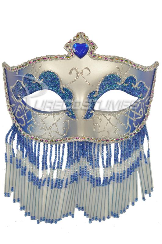 Soiree Spectaculaire Mask (Blue Silver) コスチューム クリスマス ハロウィン コスプレ 衣装 仮装 面白い ウィッグ かつら マスク 仮面 学園祭 文化祭 学祭 大学祭 高校 イベント