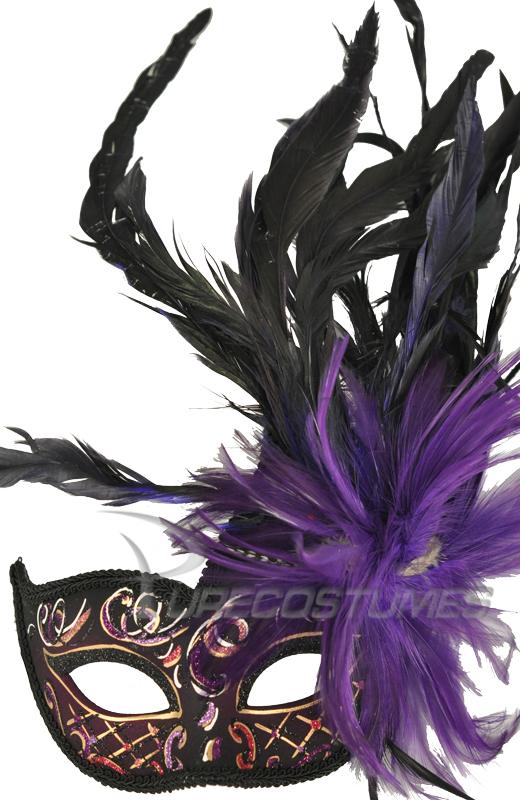 【ポイント最大29倍●お買い物マラソン限定!エントリー】Carnivale Piume Mask (Black Purple) コスチューム ハロウィン コスプレ 衣装 仮装 面白い ウィッグ かつら マスク 仮面 学園祭 文化祭 学祭 大学祭 高校 イベント