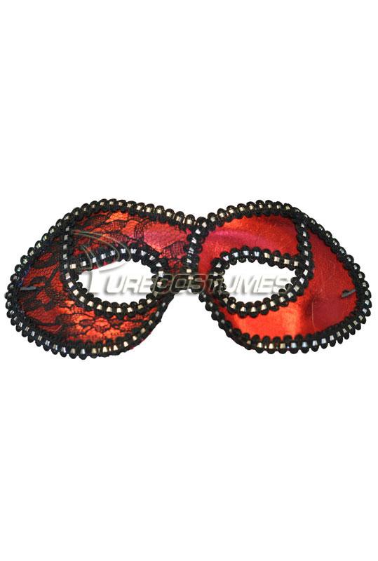【ポイント最大29倍●お買い物マラソン限定!エントリー】Mysterious Lace Masquerade Eye Mask (Red) コスチューム ハロウィン コスプレ 衣装 仮装 面白い ウィッグ かつら マスク 仮面 学園祭 文化祭 学祭 大学祭 高校 イベント
