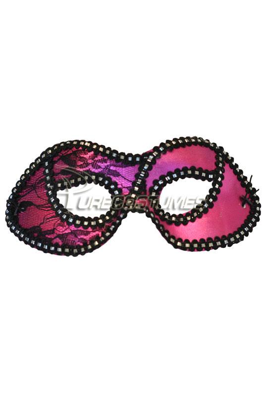 【ポイント最大29倍●お買い物マラソン限定!エントリー】Mysterious Lace Masquerade Eye Mask (Hot Pink) コスチューム ハロウィン コスプレ 衣装 仮装 面白い ウィッグ かつら マスク 仮面 学園祭 文化祭 学祭 大学祭 高校 イベント