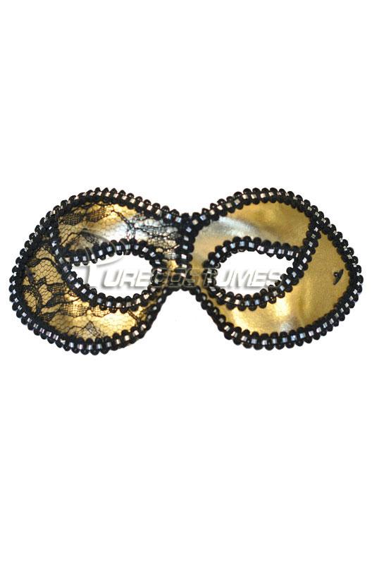 【ポイント最大29倍●お買い物マラソン限定!エントリー】Mysterious Lace Masquerade Eye Mask (Gold) コスチューム ハロウィン コスプレ 衣装 仮装 面白い ウィッグ かつら マスク 仮面 学園祭 文化祭 学祭 大学祭 高校 イベント