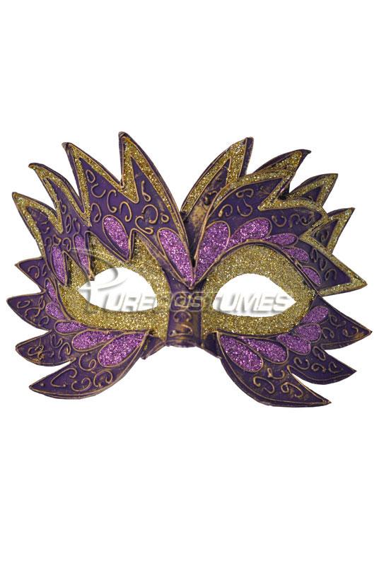 Fiery Angel ベネチアンマスク (Purple) コスチューム クリスマス ハロウィン コスプレ 衣装 仮装 面白い ウィッグ かつら マスク 仮面 学園祭 文化祭 学祭 大学祭 高校 イベント