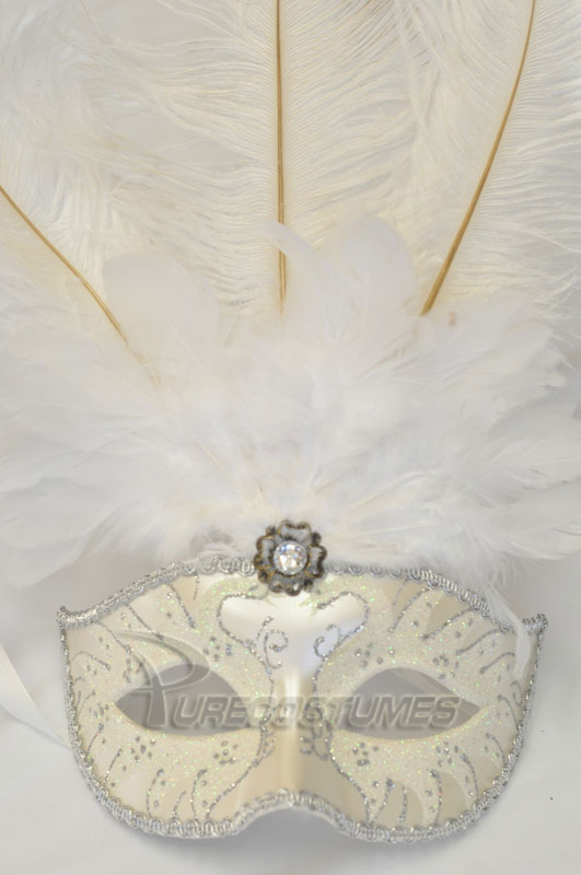 プリンス Colombina Swan Princess Feather Mask (White) コスチューム クリスマス ハロウィン コスプレ 衣装 仮装 面白い ウィッグ かつら マスク 仮面 学園祭 文化祭 学祭 大学祭 高校 イベント