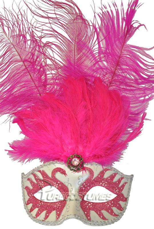 プリンス Colombina Swan プリンセス 王女様 Feather マスク (Hot Pink) コスチューム クリスマス ハロウィン コスプレ 衣装 仮装 面白い ウィッグ かつら マスク 仮面 学園祭 文化祭 学祭 大学祭 高校 イベント