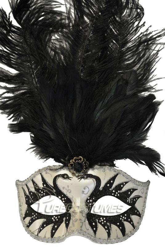 プリンス Colombina Swan Princess Feather Mask (Black) コスチューム クリスマス ハロウィン コスプレ 衣装 仮装 面白い ウィッグ かつら マスク 仮面 学園祭 文化祭 学祭 大学祭 高校 イベント