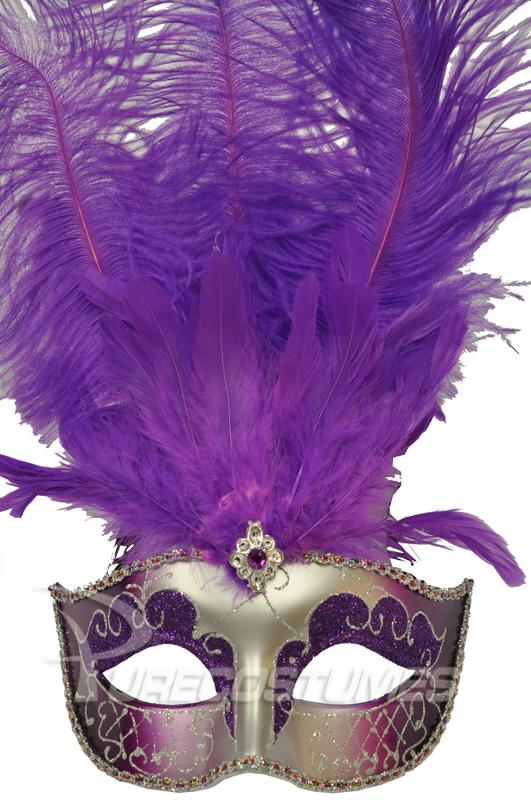 Colombina Festa ベネチアンマスク (Purple Silver) コスチューム クリスマス ハロウィン コスプレ 衣装 仮装 面白い ウィッグ かつら マスク 仮面 学園祭 文化祭 学祭 大学祭 高校 イベント