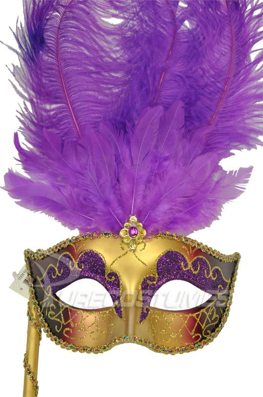 Colombina Vanity Fair ベネチアンマスク (Purple) コスチューム クリスマス ハロウィン コスプレ 衣装 仮装 面白い ウィッグ かつら マスク 仮面 学園祭 文化祭 学祭 大学祭 高校 イベント