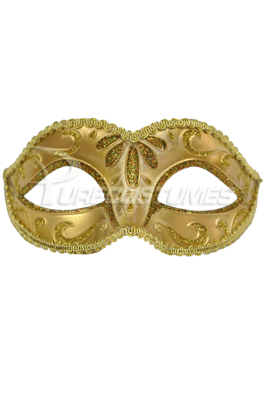 Child ベネチアンマスク (Gold) コスチューム ハロウィン コスプレ 衣装 仮装 面白い ウィッグ かつら マスク 仮面 学園祭 文化祭 学祭 大学祭 高校 イベント