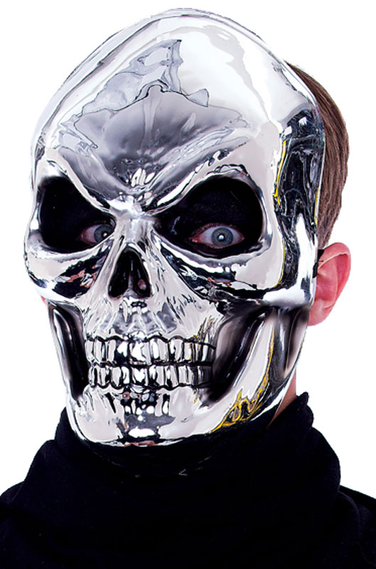 Mischevious Maniacs Skull Mask (Silver) コスチューム クリスマス ハロウィン コスプレ 衣装 仮装 面白い ウィッグ かつら マスク 仮面 学園祭 文化祭 学祭 大学祭 高校 イベント