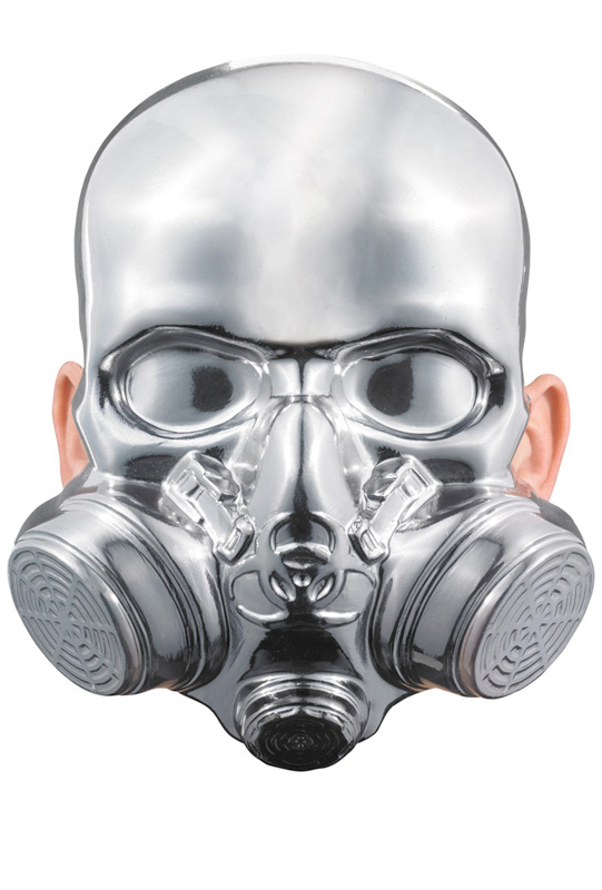 Bio-Hazard Chrome Mask コスチューム ハロウィン コスプレ 衣装 仮装 面白い ウィッグ かつら マスク 仮面 学園祭 文化祭 学祭 大学祭 高校 イベント