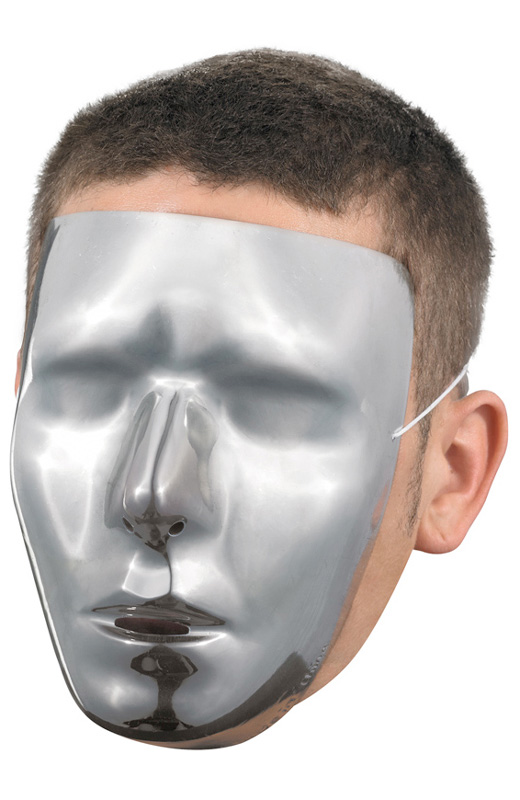 Blank Male Chrome Mask コスチューム ハロウィン コスプレ 衣装 仮装 面白い ウィッグ かつら マスク 仮面 学園祭 文化祭 学祭 大学祭 高校 イベント