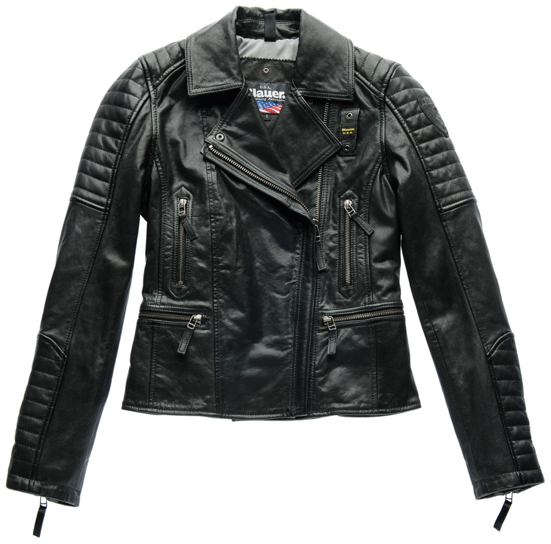 ブラウアー Blauer Padded Collar Lady バイク用品 メンズ バイクウェア モトクロス レザージャケット 革ジャン ライダースジャケット