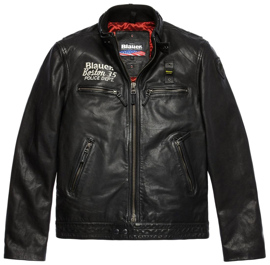 ブラウアー Blauer Rider Boston 35 Padded バイク用品 メンズ バイクウェア モトクロス レザージャケット 革ジャン ライダースジャケット