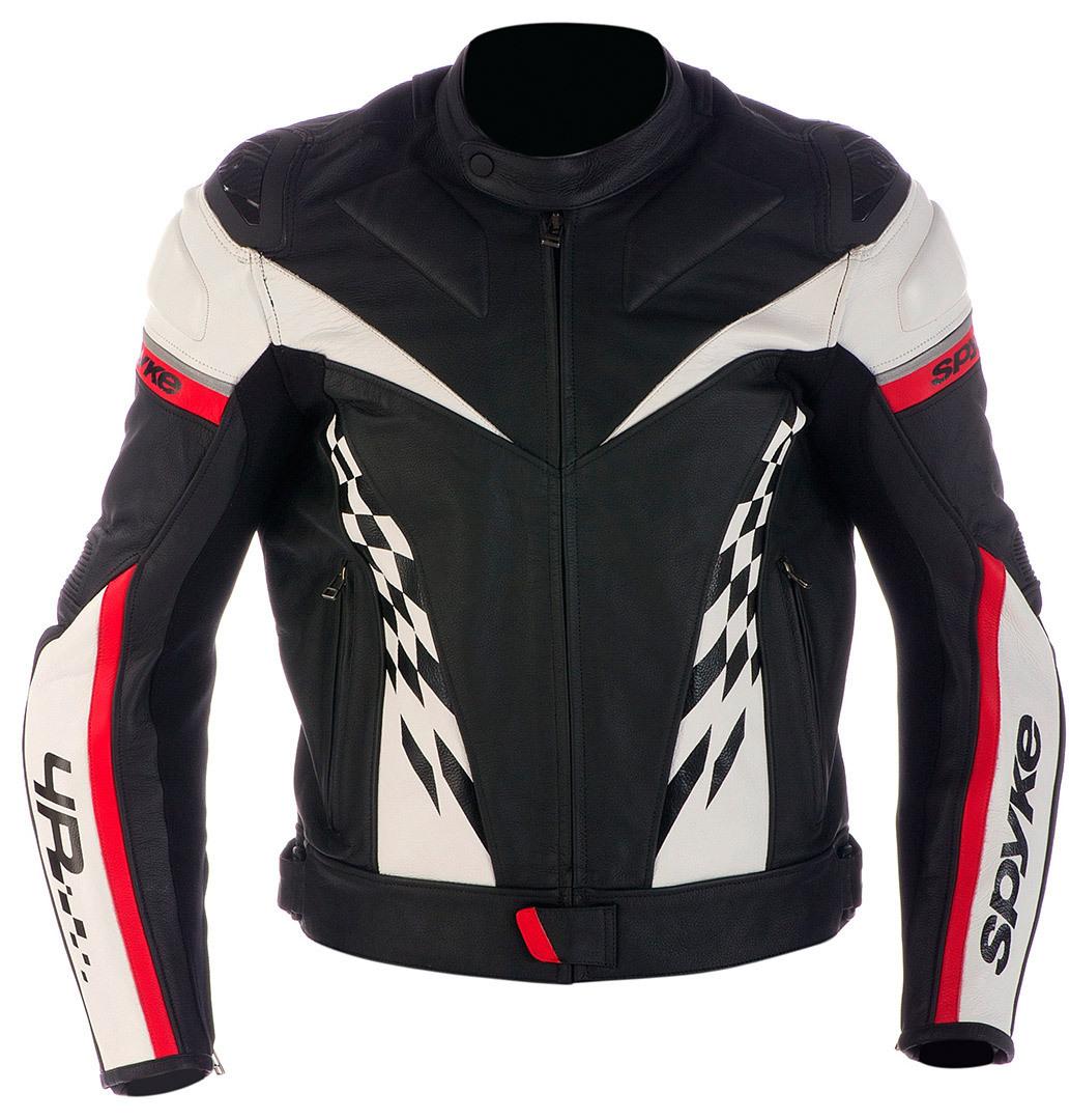 Spyke スパイク 4 Race GP Leather Jacket バイク用品 メンズ バイクウェア モトクロス レザージャケット 革ジャン ライダースジャケット