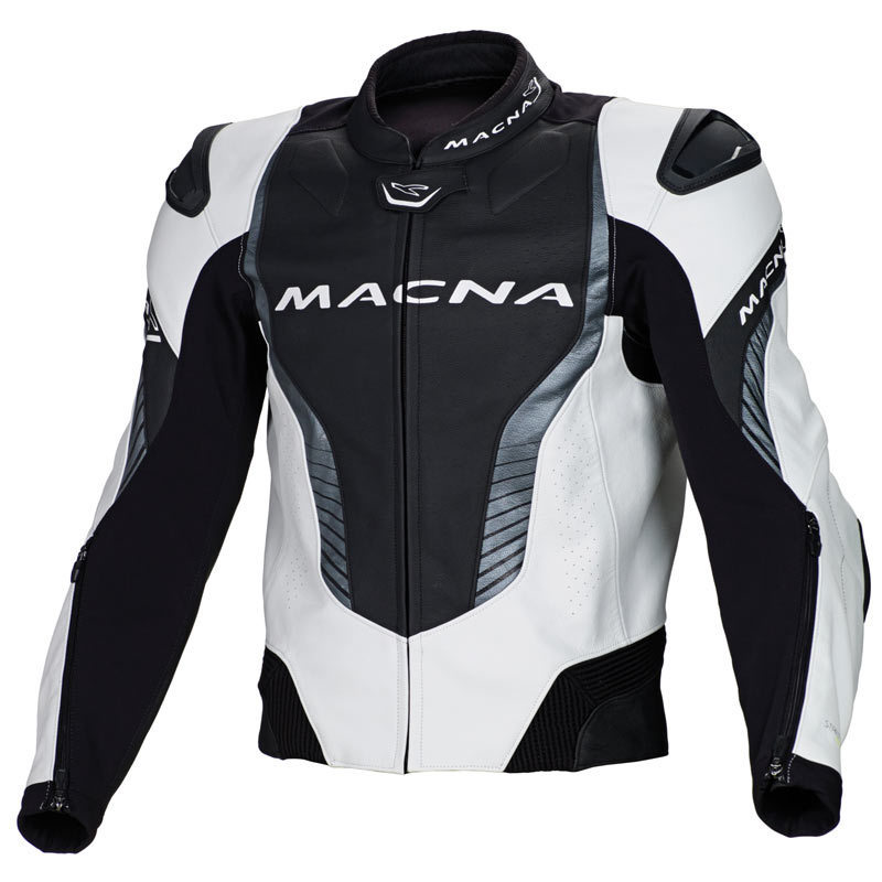 Macna Flash Leather Jacket バイク用品 メンズ バイクウェア モトクロス レザージャケット 革ジャン ライダースジャケット