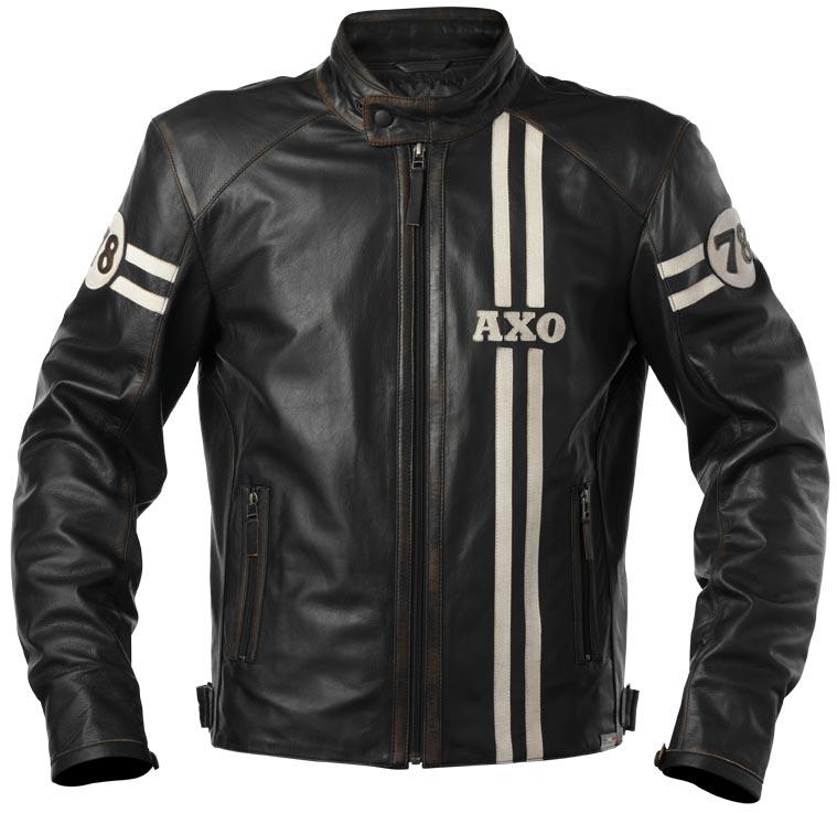 AXO Gasoline Leather Jacket バイク用品 メンズ バイクウェア モトクロス レザージャケット 革ジャン ライダースジャケット