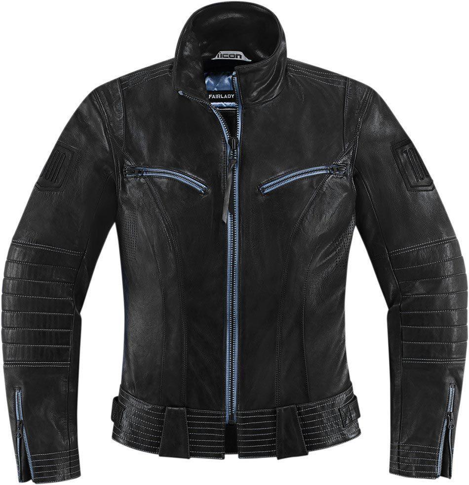 アイコン ICON 1000 Fairlady Lady バイク用品 メンズ バイクウェア モトクロス レザージャケット 革ジャン ライダースジャケット