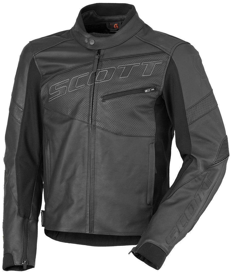 スコット Scott Track Leather Blouson バイク用品 メンズ バイクウェア モトクロス レザージャケット 革ジャン ライダースジャケット