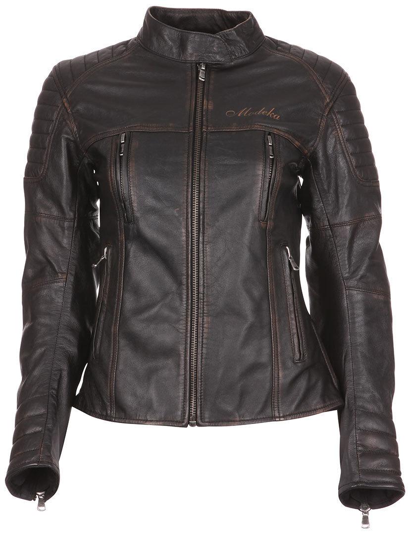 Modeka Kalea Lady Leather Jacket バイク用品 メンズ バイクウェア モトクロス レザージャケット 革ジャン ライダースジャケット