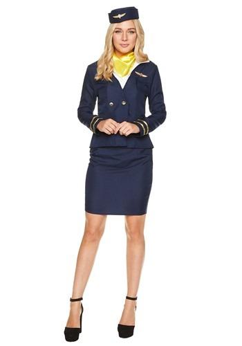 Women's Flight Attendant コスチューム クリスマス ハロウィン レディース コスプレ 衣装 女性 仮装 女性用 イベント パーティ ハロウィーン 学芸会