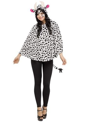 Women's Cow フード Poncho クリスマス ハロウィン レディース コスプレ 衣装 女性 仮装 女性用 イベント パーティ ハロウィーン 学芸会