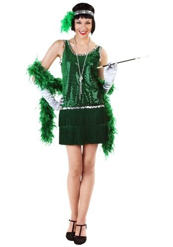 Sequin & Fringe Green フラッパー コスチューム 大きいサイズ クリスマス ハロウィン レディース コスプレ 衣装 女性 仮装 女性用 イベント パーティ ハロウィーン 学芸会