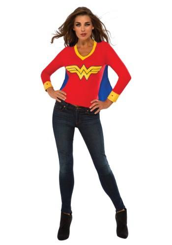 Women's Wonder Woman Sporty Tee w/ Cape コスチューム クリスマス ハロウィン レディース コスプレ 衣装 女性 仮装 女性用 イベント パーティ ハロウィーン 学芸会