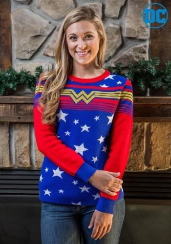 【ポイント最大29倍●お買い物マラソン限定!エントリー】Women's Wonder Woman Tunic Ugly Christmas Sweater ハロウィン レディース コスプレ 衣装 女性 仮装 女性用 イベント パーティ ハロウィーン 学芸会