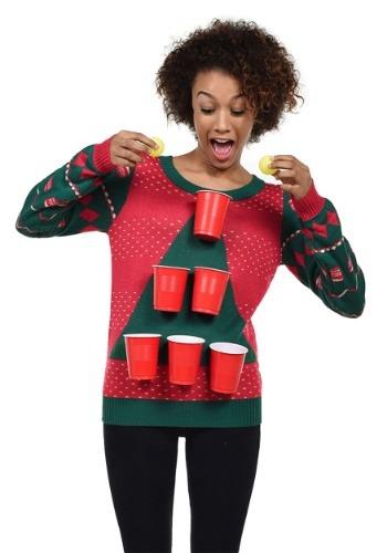 【ポイント最大29倍●お買い物マラソン限定!エントリー】Tipsy Elves Women's Beer Pong Ugly Christmas Sweater ハロウィン レディース コスプレ 衣装 女性 仮装 女性用 イベント パーティ ハロウィーン 学芸会
