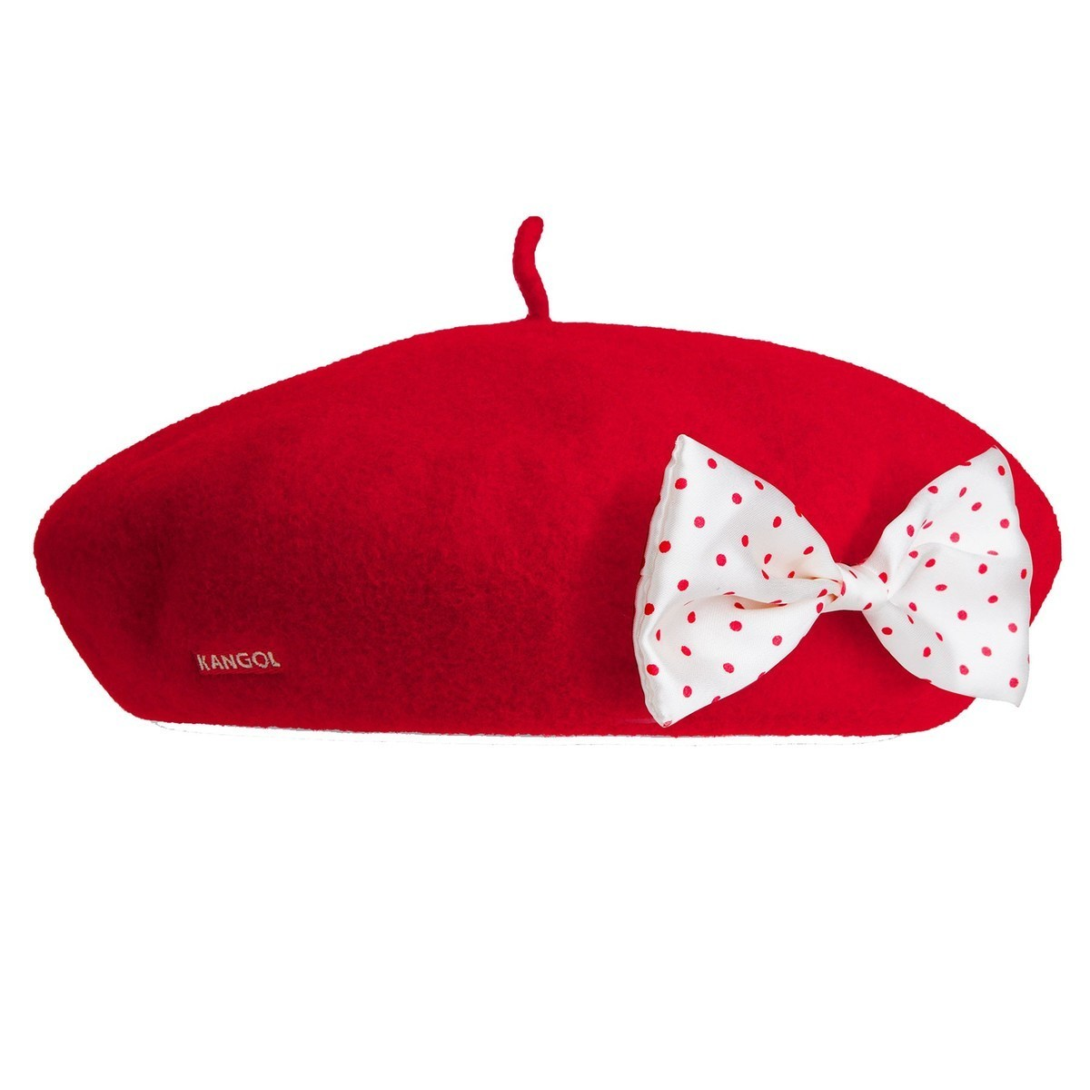 Kangol カンゴール for  Anglobasque Beret with Detachable Bows RED ベレー帽 帽子 RED