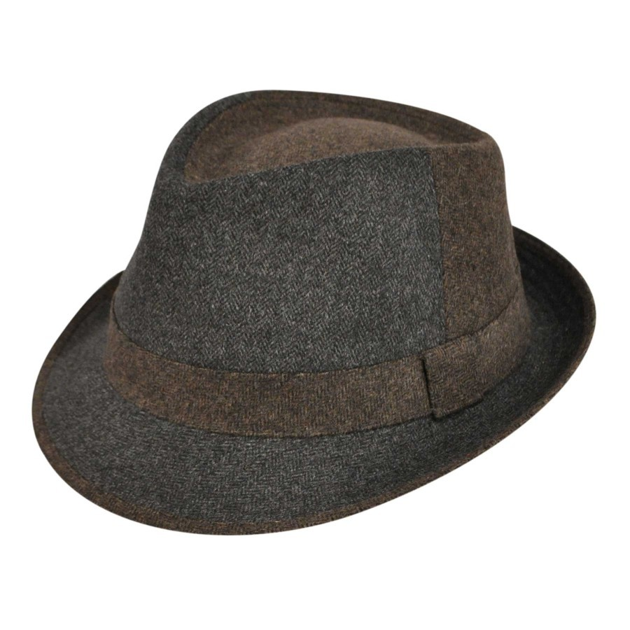Country Gentleman Bowery Fedora Charcoal フェドラハット 帽子 Charcoal