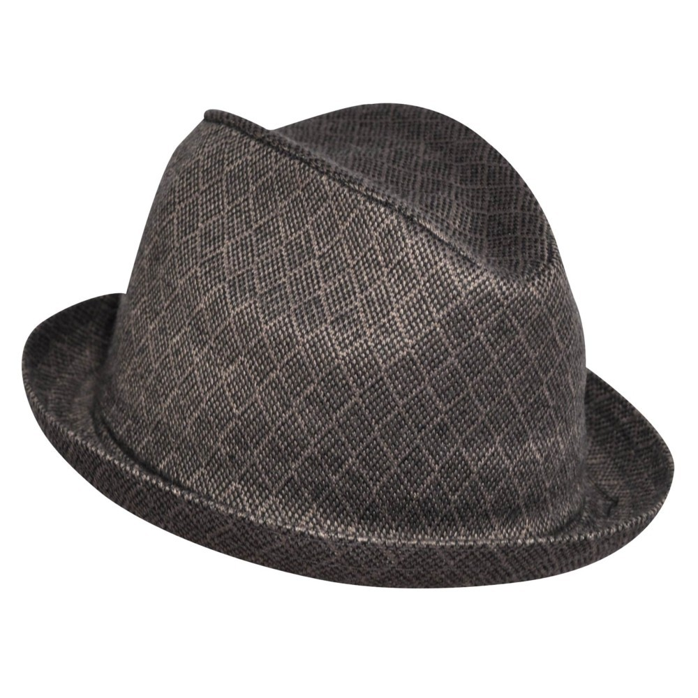 Kangol カンゴール Jacquard Player DIAMOND CHECK BLACK フェドラハット 帽子 DIAMOND CHECK BLACK