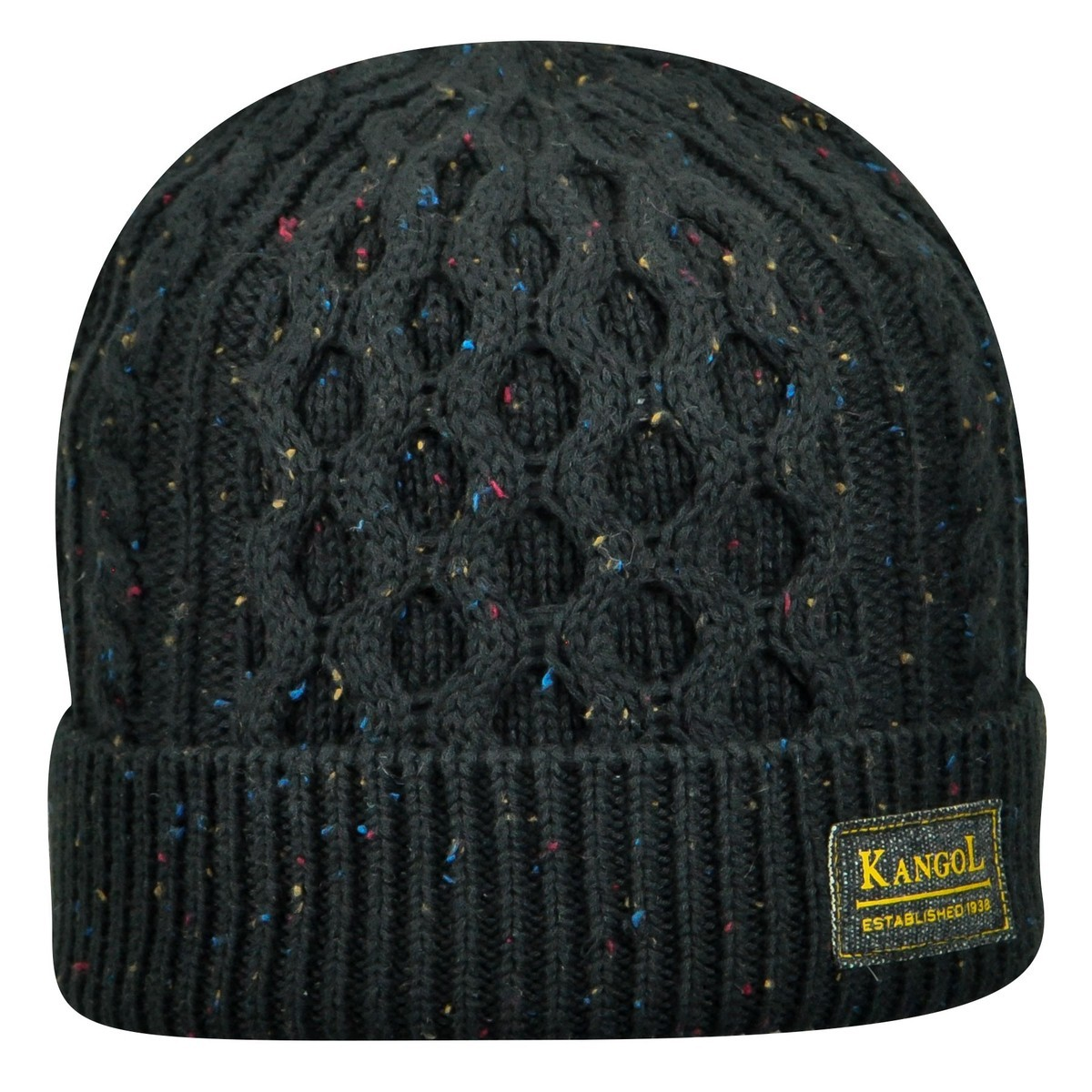 Kangol カンゴール Knep Cable Pull-On BLACK Beanies & Pull Ons 帽子 BLACK